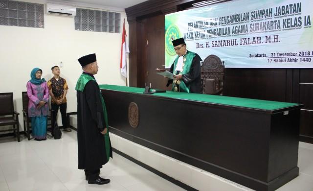 Selamat Kepada Drs. H Samarul Falah, M.H., Wakil Ketua Pengadilan Agama Surakarta Kelas I-A yang baru